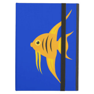 AngelFish in the deep blue sea_on blue Case For iPad Air