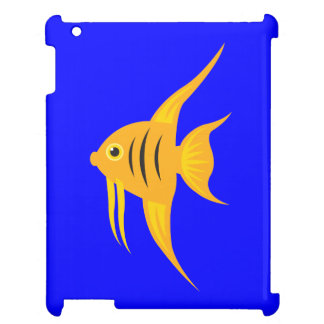 AngelFish in the deep blue sea_on blue Case For The iPad