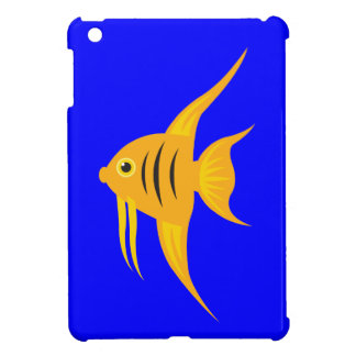AngelFish in the deep blue sea_on blue Cover For The iPad Mini