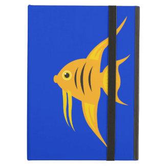 AngelFish in the deep blue sea_on blue iPad Folio Cases