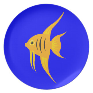 AngelFish in the deep blue sea Party Plates