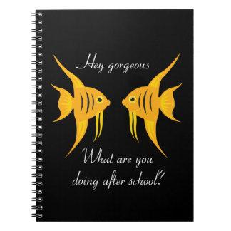 AngelFish intrépido y hermoso en negro Cuaderno
