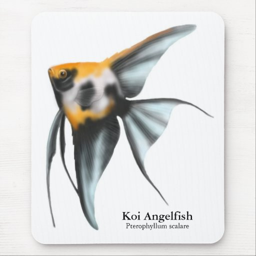 Angelfish Mousepad de Koi