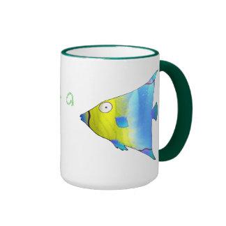 Angelfish Ringer Coffee Mug