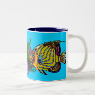 Angelfish Mug with Anemones and Fan Coral