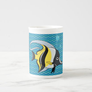 Angelfish on Blue Green Waves Mug