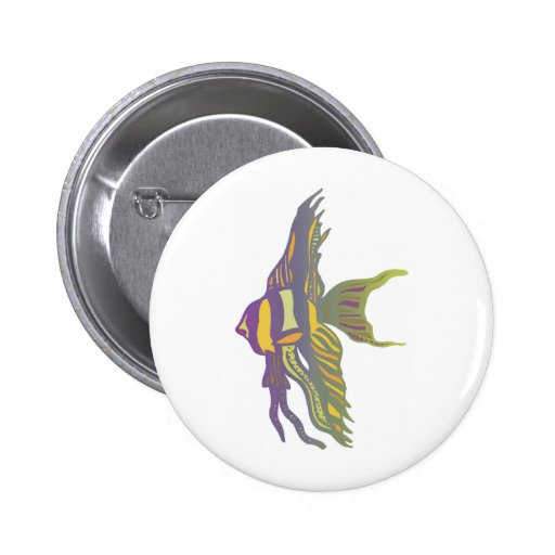 Angelfish Pin Redondo De 2 Pulgadas