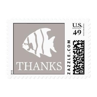 Angelfish Postage Stamp (Thanks Sand Taupe Gray)