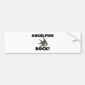 Angelfish Rock Car Bumper Sticker
