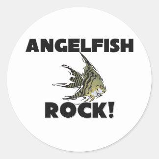 Angelfish Rock Round Stickers