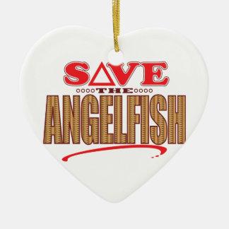 Angelfish Save Ceramic Ornament