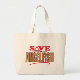 Angelfish Save Large Tote Bag
