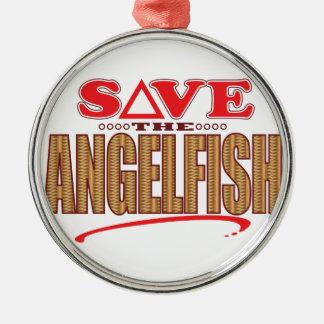 Angelfish Save Metal Ornament