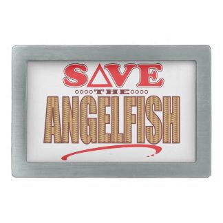 Angelfish Save Rectangular Belt Buckle