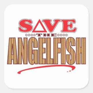 Angelfish Save Square Sticker