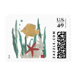 Angelfish, Starfish, Tropical, Stamps
