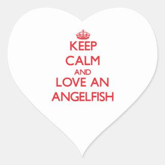 Angelfish Heart Stickers