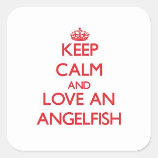 Angelfish Square Sticker