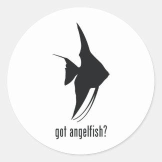 Angelfish Round Sticker