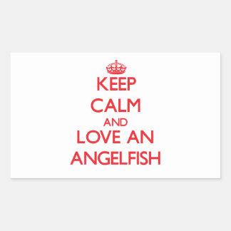 Angelfish Rectangular Sticker