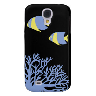 Angelfish tropical azul y amarillo samsung galaxy s4 cover