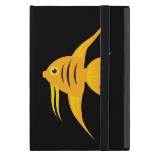 AngelFish twins in the deep blue sea_on black iPad Mini Case