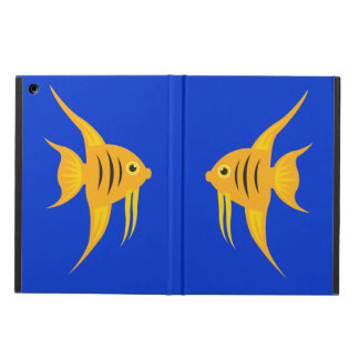 AngelFish twins in the deep blue sea_on blue Case For iPad Air