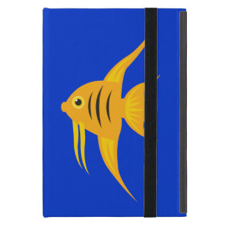 AngelFish twins in the deep blue sea_on blue iPad Mini Cover