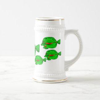 Angelfish verde Stein congregado plata Jarra De Cerveza