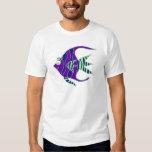 Angelfish verde y púrpura playeras
