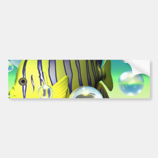 Angelfish Water Fantasy Stationary Bumper Sticker