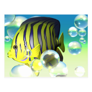 Angelfish Water Fantasy Stationary Postcard