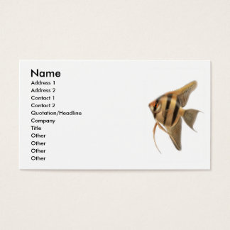 angelfish white background, Name, Address 1, Ad... Business Card