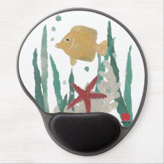 Angelfish y estrellas de mar Mousepad tropical Alfombrilla De Raton Con Gel