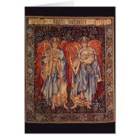 Angeli Laudantes, Vintage Angels by Burne Jones Greeting Card