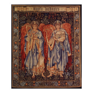 Angeli Laudantes, Vintage Angels by Burne Jones Poster