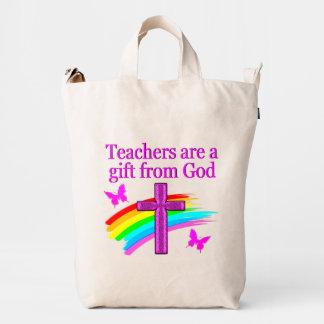 ANGELIC AND SPIRIT FILLED TEACHER DESIGN DUCK BAG