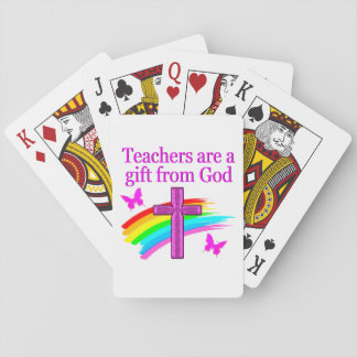 ANGELIC AND SPIRIT FILLED TEACHER DESIGN PLAYING CARDS