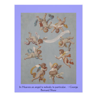 """Angelic Angel Quotes -  Angel Quotation 8.5"""" X 11"""" Flyer"""