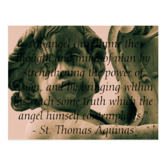 Angelic Angel Quotes -  Angel Quotation Postcard