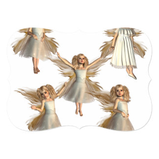 Angelic Angels 5x7 Paper Invitation Card