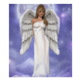 Angelic Blue Poster