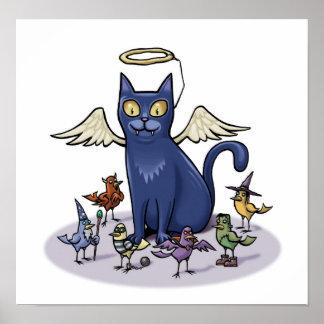 Angelic Cat Print