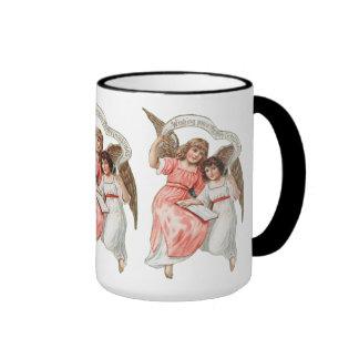 Angelic Chistmas Greetings Ringer Mug