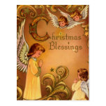 Angelic Christmas Blessings Post Card
