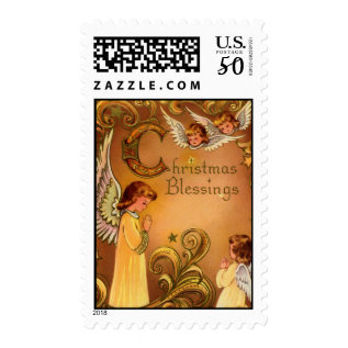 Angelic Christmas Blessings Postage at Zazzle