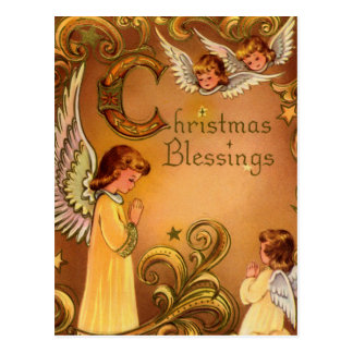 Angelic Christmas Blessings Postcard
