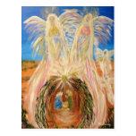 Angelic Christmas Nativity postcard