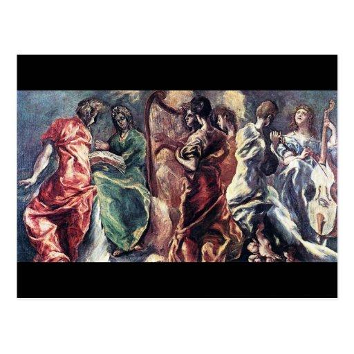 Angelic Concert by El Greco ( Theotokopoulos) Post Card