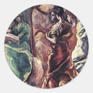 Angelic Concert by El Greco Theotokopoulos Sticker